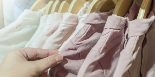 Choosing the right clothes in the closet for interview