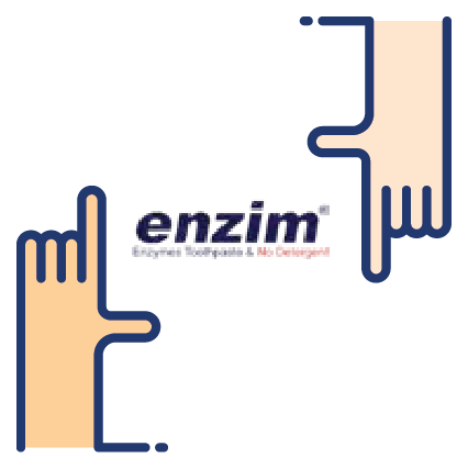 Hand with enzim logo