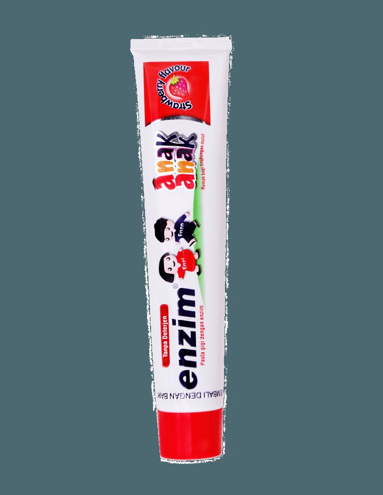 Pasta gigi enzim anak anak strawberry flavour